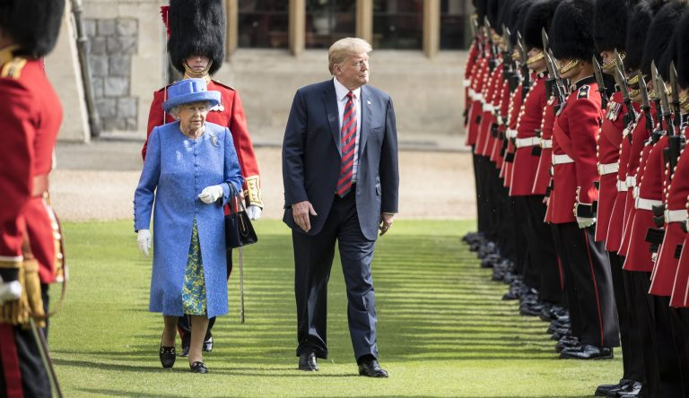 Donald Trump meeting the Queen in Windsor
